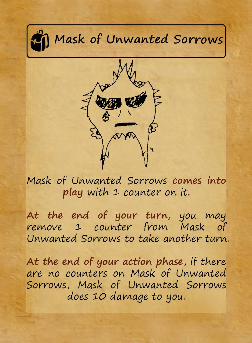 Mask of Unwanted Sorrows